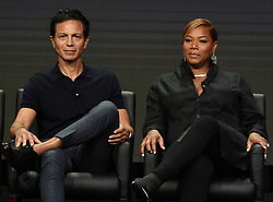 BEVERLY HILLS - AUGUST 8: Cast members Benjamin Bratt and Queen Latifah onstage during the panel for 'STAR' at the FOX portion of the 2017 Summer TCA press tour at the Beverly Hilton on August 8, 2017 in Beverly Hills, California. (Photo by Frank Micelotta/Fox/PictureGroup) *** Please Use Credit from Credit Field ***