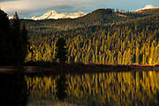 Fall colors on Seeley Lake, Montana.