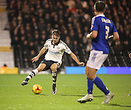 Fulham attacker Alex Kacaniklic (Kacaniklic) trying a bit of skill during the Sky Bet Championship match between Fulham and Ipswich Town at Craven Cottage, London, England on 15 December 2015. Photo by Matthew Redman.