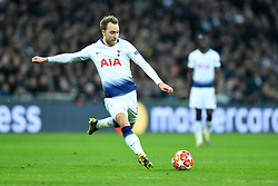 February 13, 2019 - London, England, United Kingdom - Tottenham midfielder Christian Eriksen in action during the UEFA Champions League match between Tottenham Hotspur and Ballspielverein Borussia 09 e.V. Dortmund at Wembley Stadium, London on Wednesday 13th February 2019. (Credit: Jon Bromley | MI News & Sport Ltd) (Credit Image: © Mi News/NurPhoto via ZUMA Press)