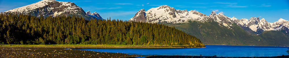 View from Chilkat State Park, near Haines, Alaska USA.