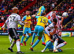 A tussle in the Sheffield United penalty area - Mandatory by-line: Ryan Crockett/JMP - 09/03/2019 - FOOTBALL - Bramall Lane - Sheffield, England - Sheffield United v Rotherham United - Sky Bet Championship