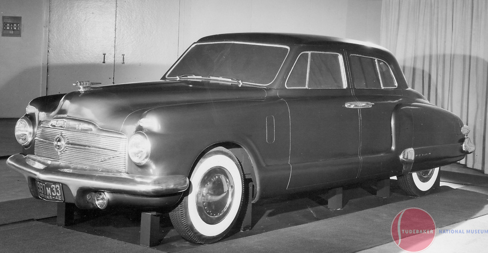 Clay model of a proposed postwar Studebaker President c. 1942
