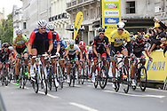 Riders set out at the start of the Aviva Tour of Britain London Stage eight, Regent Street, London, United Kingdom on 13 September 2015. Photo by Phil Duncan.