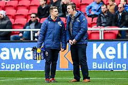 George van Klaveren and Mike Hall look on - Rogan/JMP - 22/10/2017 - RUGBY UNION - Ashton Gate Stadium - Bristol, England - Bristol Rugby v Doncaster Knights - B&I Cup.