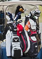 DEN DOLDER - Golfsociëteit De Lage Vuursche ,  golftassen op golfbuggy.. Copyright  KOEN SUYK