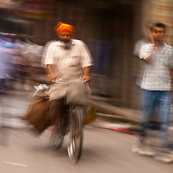 Riding through the streets of Amritsar