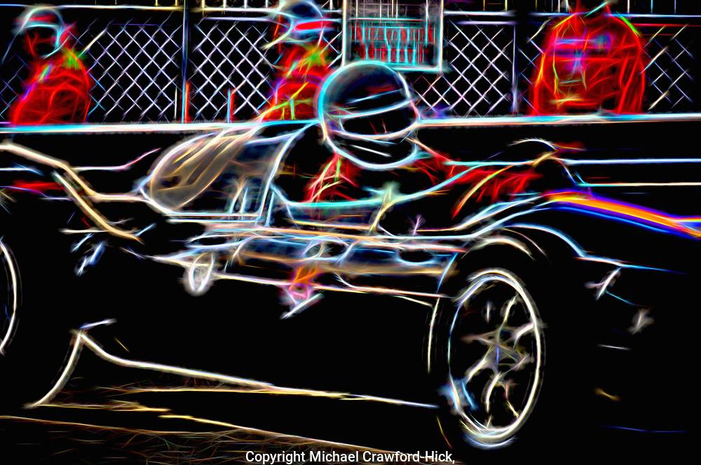 No 27 Monaco Grand prix making a turn