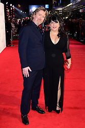 Author E L James (right) and guest arriving for the Fifty Shader Darker European Premiere held at Odeon Leicester Square, London. PRESS ASSOCIATION Photo. Picture date: Thursday February 9, 2016. See PA story SHOWBIZ FiftyShades. Photo credit should read: Ian West/PA Wire