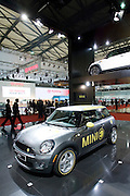 The Mini Cooper electric car is displayed during Shanghai Motor Show, in Shanghai, China, on April 20, 2009. Shanghai auto show opened Monday for the press and will be open April 24-28 for the public. China is the only major auto market still growing despite the global economic slowdown. U.S. and global auto makers see China as the place where they can find the sales they desperately lack in their home market. Chinese automakers see the opportunity to assess themselves as major players in the world market. Photo by Lucas Schifres/Pictobank