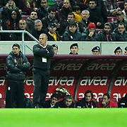 Galatasaray's coach Fatih TERIM during their Turkish Superleague soccer match Galatasaray between Mersin Idman Yurdu at the Turk Telekom Arena at Aslantepe in Istanbul Turkey on Saturday 05 November 2011. Photo by TURKPIX