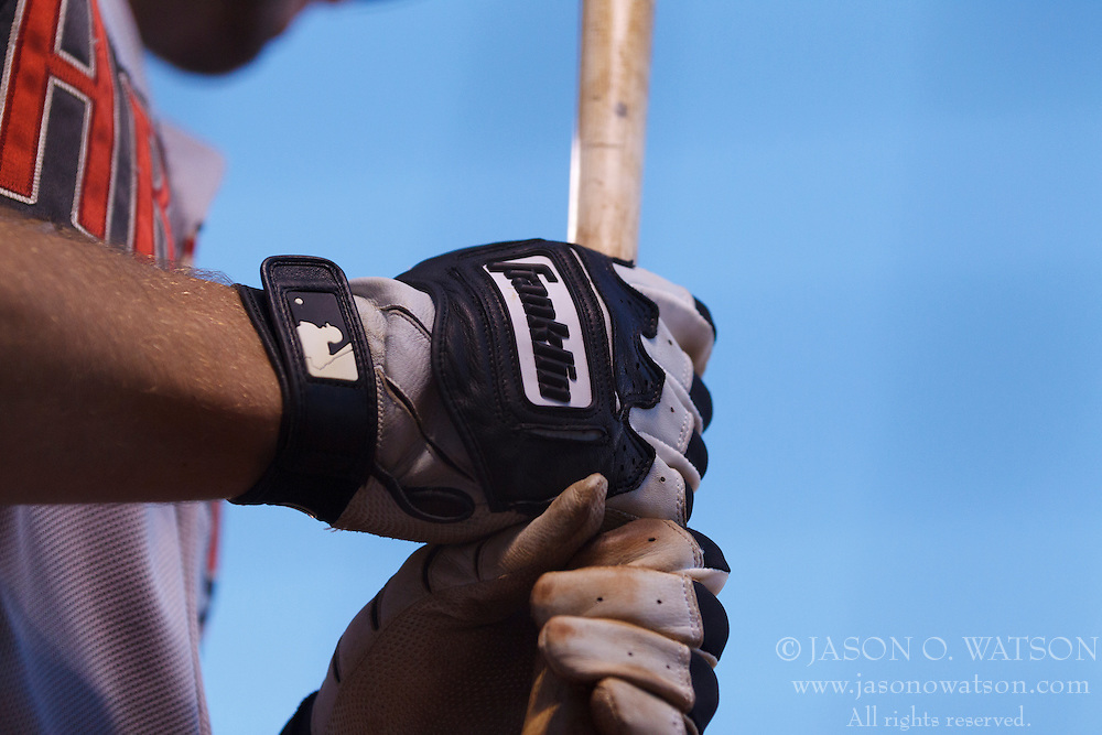SAN FRANCISCO, CA - APRIL 18:  Detailed view of Franklin batting gloves worn by Paul Goldschmidt #44 of the Arizona Diamondbacks during the sixth inning against the San Francisco Giants at AT&T Park on April 18, 2015 in San Francisco, California.  The San Francisco Giants defeated the Arizona Diamondbacks 4-1. (Photo by Jason O. Watson/Getty Images) *** Local Caption *** Paul Goldschmidt