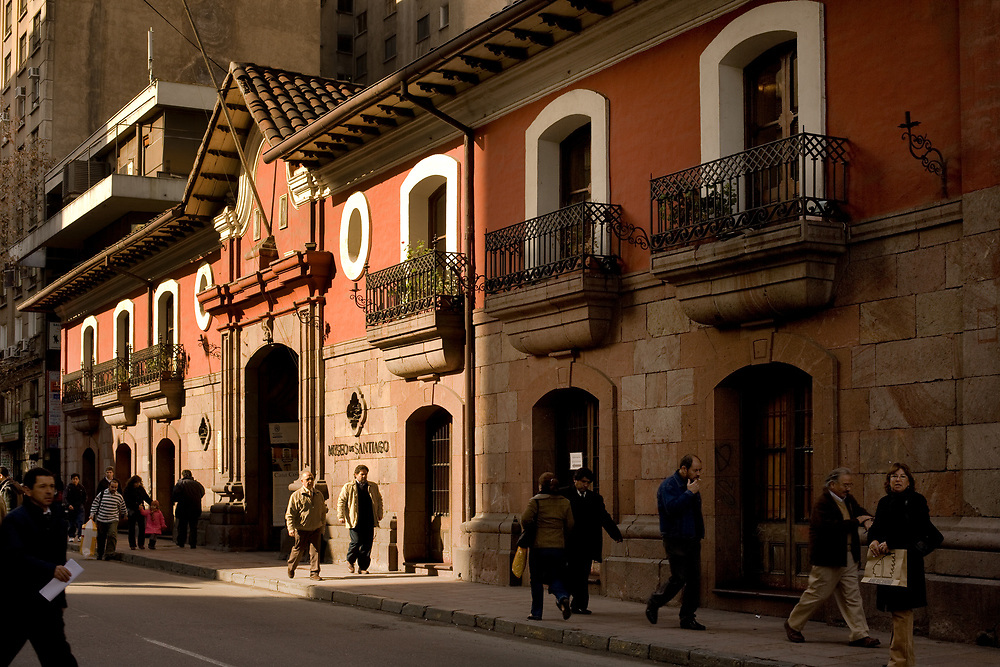 Santiago de Chile, Metropolitan Region, Chile, South America - Casa Colorada, colonial house built in 1769 and where lived Mateo de Toro y Zambrano, the president of the first independent government constituted in Chile. Today it is a museum.