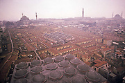 A view over the Grand Bazar and central old Istanbul in the depths of winter, Istanbul, Turkey
