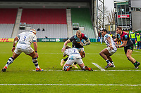 Rugby Union - 2020 / 2021 Gallagher Premiership - Round 4 - Harlequins vs Bristol Bears  - The Stoop<br /> <br /> Mike Brown, of Harlequins, makes a dive for the line<br /> <br /> COLORSPORT/DANIEL BEARHAM