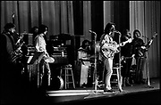 """Fall River, Massachusetts - 18 February 1968. Frank Zappa and The Mothers of Invention in performance at the Durfee Theater. From left to right:  John Leon """"Bunk"""" Gardner, Ian Underwood, Jimmy Carl Black, Frank Zappa, Ray Collins, Roy Estrada. © Ed Lefkowicz 2020<br /> <br /> For licensing of any of the images in this portfolio go to https://www.mptvimages.com/<br /> <br /> For fine art prints, get in touch with me directly."""