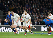 Ben Youngs of England breaks through in the second half during the RBS 6 Nations match at Twickenham Stadium, Twickenham<br /> Picture by Andrew Tobin/Focus Images Ltd +44 7710 761829<br /> 21/03/2015