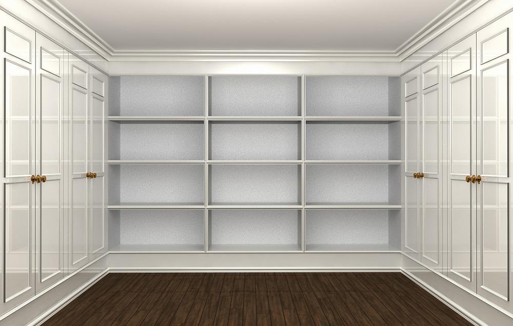 3D rendering of an empty Closet