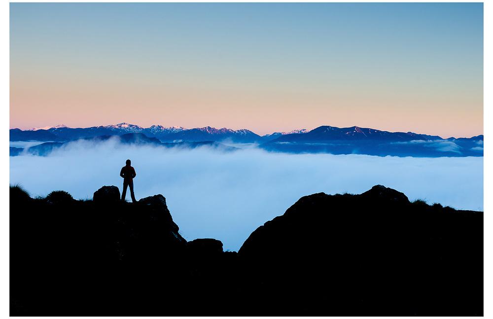 High above the Wakatipu Basin, The Remarkables, Otago.
