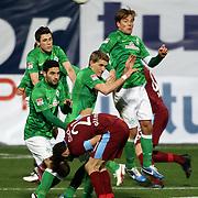 Werder Bremen's Mehmet Ekici (L) during their Tuttur.com Cup matchday 2 soccer match Trabzonspor between  Werder Bremen at Mardan stadium in AntalyaTurkey on 07 Monday January, 2013. Photo by Aykut AKICI/TURKPIX