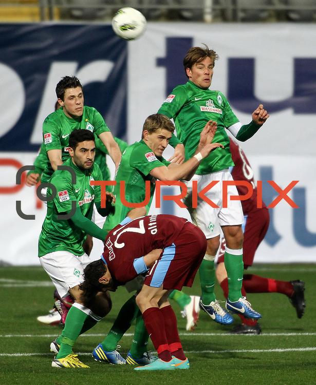Werder Bremen's Mehmet Ekici (L) during their Tuttur.com Cup matchday 2 soccer match Trabzonspor between  Werder Bremen at Mardan stadium in AntalyaTurkey on 07 Monday January, 2013. Photo by Aykut AKICI/TURKPIX