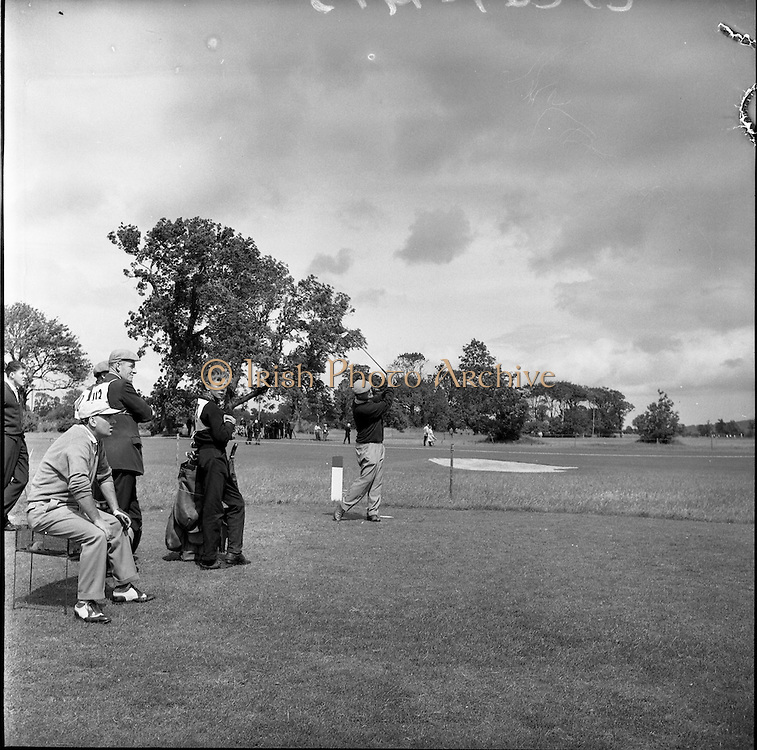21/07/1962<br /> 07/21/ 1962<br /> 21 July 1962<br /> Woodbrook Irish Hospitals' Golf Tournament at Woodbrook Golf Course, Dublin, Saturday. John Panton (Glenbervie) drives off the 13th tee. He had a score of 67 to give him a two round total of 139.