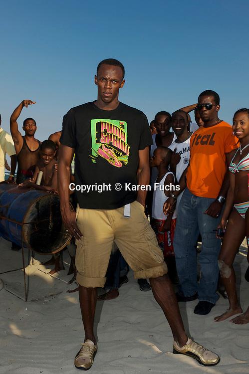 Usain Bolt on Hellshire Beach, Kingston /Jamaica April'09