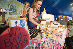 © licensed to London News Pictures. LONDON. UK.  03/07/11. WI (Women's Institute) cake competition on Day three of Jamie Olivers The Big Feastival on Clapham Common today (03/07/2011).  Photo Credit Ben Cawthra/LNP