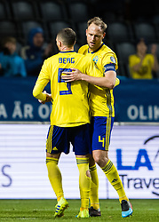 March 23, 2019 - Stockholm, SWEDEN - 190323 Marcus Berg and Andreas Granqvist celebrates after the UEFA Euro Qualifier football match between Sweden and Romania on March 23, 2019 in Stockholm. (Credit Image: © Andreas L Eriksson/Bildbyran via ZUMA Press)