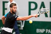 Paris, France. Roland Garros. June 1st 2013.<br /> French player Benoit PAIRE against Kei NISHIKORI