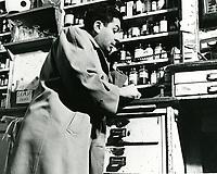 1945 Sidney Skolsky on the telephone at Schwab's Drugstore