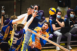 Bozidar Vuciceevic of ACH Volley Ljubljana during 3rd Leg of Volleyball match between ACH Volley and OK Merkur Maribor in Final of 1. DOL League 2020/21, on April 20, 2021 in SD Tabor, Maribor, Slovenia. Photo by Blaž Weindorfer / Sportida