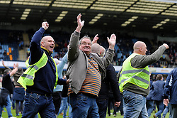 Bristol Rovers fans celebrates as he invades the pitch on the final whistle - Photo mandatory by-line: Dougie Allward/JMP - Mobile: 07966 386802 26/04/2014 - SPORT - FOOTBALL - High Wycombe - Adams Park - Wycombe Wanderers v Bristol Rovers - Sky Bet League Two