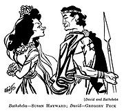 David and Bathsheba : Susan Hayward and Gregory Peck..