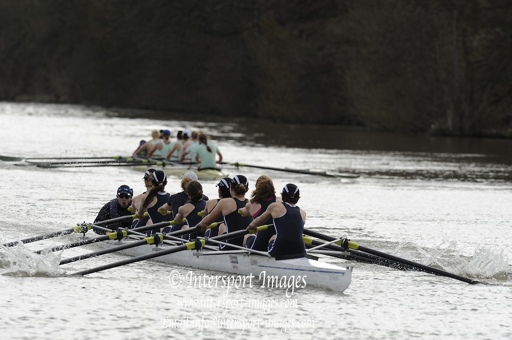 Henley, GREAT BRITAIN,  [Dark Blue] Oxford winning the Women's Boat Race on Henley Reach, 2010 Henley Boat Races, Henley on Thames, England  Sunday  28/03/2010  28.03.2010. [Mandatory Credit, Peter Spurrier/Intersport-images