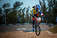 #39 (CARR Amanda) THA at the 2014 UCI BMX Supercross World Cup in Santiago Del Estero, Argentina.