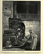 Carpet Bazaar, Cairo Wood engraving of from 'Picturesque Palestine, Sinai and Egypt' by Wilson, Charles William, Sir, 1836-1905; Lane-Poole, Stanley, 1854-1931 Volume 4. Published in 1884 by J. S. Virtue and Co, London