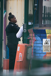 © Licensed to London News Pictures. 01/08/2021. London, UK. Police are seen outside The Cause nightclub in Tottenham, north London. A man in his 20s died in hospital and two others are ill after visiting the nightclub early on Saturday. Photo credit: Marcin Nowak/LNP
