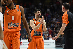 December 19, 2017 - Madrid, Madrid, Spain - Rafa Martinez, #17 of Valencia gestures during the 2017/2018 Turkish Airlines EuroLeague Regular Season Round 13 game between Real Madrid and Valencia Basket at WiZink center in Madrid. (Credit Image: © Jorge Sanz/Pacific Press via ZUMA Wire)