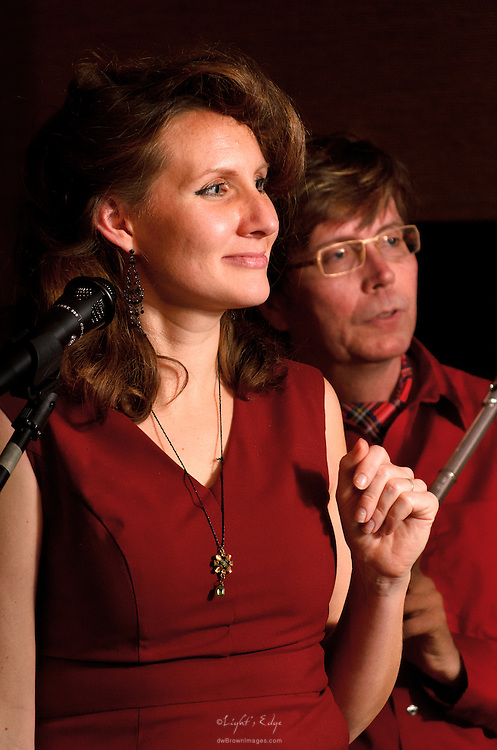 Christie & Hugh during their performance with Swing That Cat at The Bus Stop Music Cafe in Pitman, NJ.