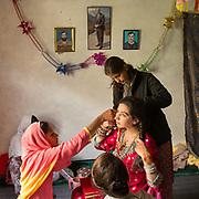 The bride getting make up etc. Chapursan valley.