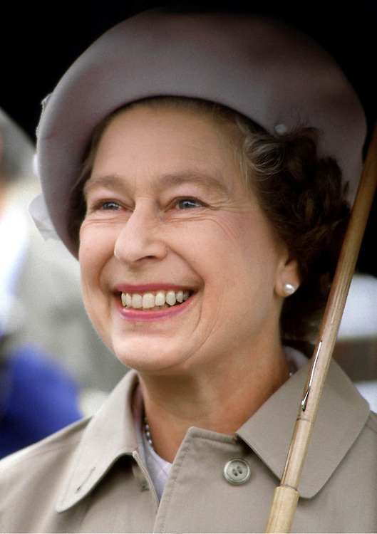 Her Majesty Queen Elizabeth seen during a visit to Kylesku,Scotland in 1984. Photograph by Jayne Fincher