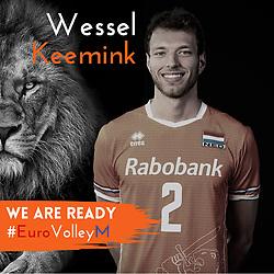 Wessel Keemink of Netherlands, Photoshoot selection of Orange men's volleybal team season 2021on may 11, 2021 in Arnhem, Netherlands (Photo by RHF Agency/Ronald Hoogendoorn)