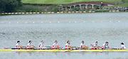 Chungju, South Korea.  Final Women's Eights, ITA W8+2013 FISA World Rowing Championships, Tangeum Lake International Regatta Course.15:54:08  Sunday  01/09/2013 [Mandatory Credit. Peter Spurrier/Intersport Images]<br /> <br /> 1USA W8+. Bow. Amanda POLK (b) , Kerry SIMMONDS (2) , Emily REGAN (3) , Lauren SCHMETTERLING (4) , Grace LUCZAK (5) , Meghan MUSNICKI (6) , Victoria OPITZ (7) , Caroline LIND (s) , Katelin SNYDER<br /> <br /> 2ROU W8+. Bow. Cristina ILIE (b) , Ionelia ZAHARIA (2) , Cristina GRIGORAS (3) , Ioana CRACIUN (4) , Camelia LUPASCU (5) , Andreea BOGHIAN (6) , Roxana COGIANU (7) , Nicoleta ALBU (s) , Daniela DRUNCEA.<br /> <br /> 3CANW8+. Bow. Lisa ROMAN (b) , Jennifer MARTINS (2) , Carolyn GANES (3) , Susanne GRAINGER (4) , Sarah BLACK (5) , Christine ROPER (6) , Natalie MASTRACCI (7) , Cristy NURSE (s) , Kristen KIT.<br /> <br /> 4.     GBRW8+. Melanie WILSON (b) , Caragh MCMURTRY (2) , Louisa REEVE (3) , Beth RODFORD (4) , Jessica EDDIE (5) , Zoe LEE (6) , Katie GREVES (7) , Olivia CARNEGIE-BROWN (s) , Zoe DE TOLEDO. <br /> <br /> 5AUSW8+. Bow. Hannah VERMEERSCH (b) , Renee CHATTERTON (2) , Peta WHITE (3) , Katrina BATEMAN (4) , Tess GERRAND (5) , Alexandra HAGAN (6) , Charlotte SUTHERLAND (7) , Lucy STEPHAN (s) , Elizabeth PATRICK.<br /> <br /> 6NED W8+. Bow. Marleen VERBURGH (b) , Kyra DE VRIES (2) , Aletta JORRITSMA (3) , Janneke VAN DER MEULEN (4) , Kirsten WIELAARD (5) , Dominique Van der PAUW (6) , Rosa BAS (7) , Heleen BOERS (s) , Jonna DE VRIES (c)