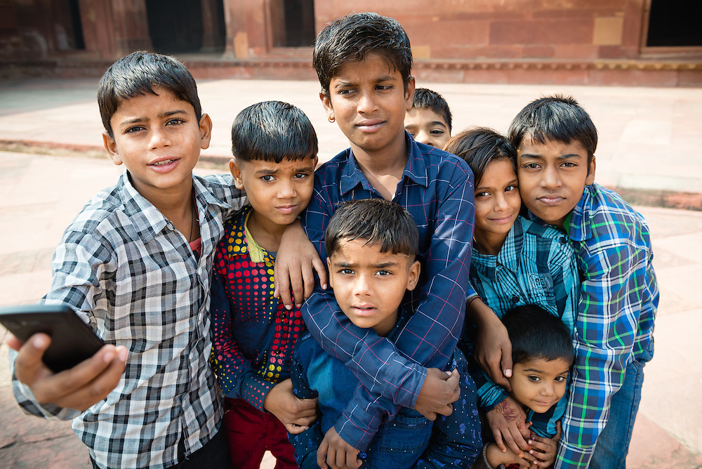 Group of Indian children