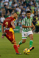 Corcoles (L) and Dani (R) during the match between Real Betis and Recreativo de Huelva day 10 of the spanish Adelante League 2014-2015 014-2015 played at the Benito Villamarin stadium of Seville. (PHOTO: CARLOS BOUZA / BOUZA PRESS / ALTER PHOTOS)