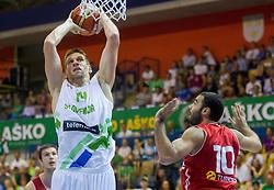 Gasper Vidmar of Slovenia during friendly match between National teams of Slovenia and Turkey for Eurobasket 2013 on August 4, 2013 in Arena Zlatorog, Celje, Slovenia. (Photo by Vid Ponikvar / Sportida.com)