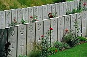Ramicourt Cemetery,France..A cemetery from the final 100 days of the First World War. August to November 1918.