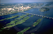 Harrisburg, PA, Susquehanna River, Aerial Photograph