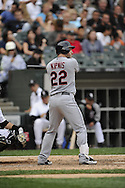 CHICAGO - SEPTEMBER 10:  Jason Kipnis #22 of the Cleveland Indians bats against the Chicago White Sox on September 10, 2011 at U.S. Cellular Field in Chicago, Illinois.  The White Sox defeated the Indians 7-3.  (Photo by Ron Vesely)   Subject: Jason Kipnis